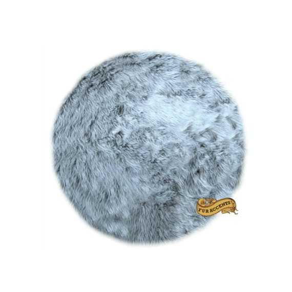 FUR ACCENTS Classic Round Area Rug / Faux Fur / By FurAccents