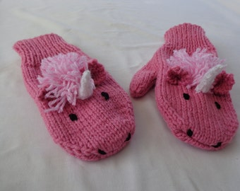 Unicorn Mittens- Adult or youth size