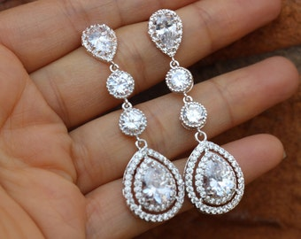 long crystal bridal earring bridal jewelry bridal earrings wedding earrings wedding jewelry