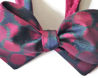 Silk Bow Tie for Men - Two Faced - One-of-a-Kind, Handtailored. Self-tie- Free Shipping