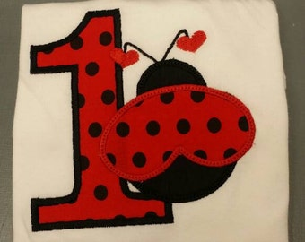 Lady Bug Birthday Shirt
