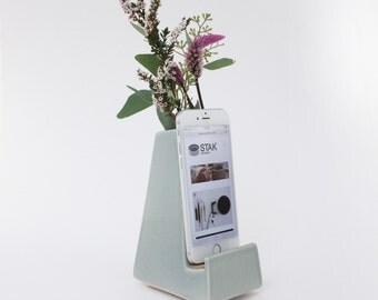 STAK Ceramics Bloom Phone Dock, Earl Grey