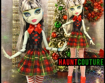 "Monster Doll Haunt Couture Christmas Collection: ""Holiday Cheer"" high fashion dress"