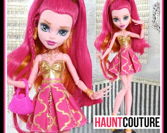 "Monster Doll Haunt Couture: ""Make a Wish"" high fashion dress clothes"