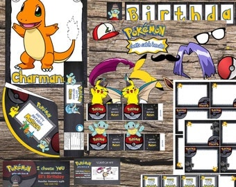 Pokemon Birthday Party Package Digital download
