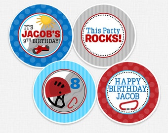 Rock Climbing Cupcake Toppers, DIY Cupcake Toppers, Printable Cupcake Toppers, Party Circles :No.538