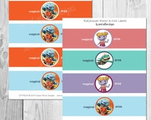 Wallykazam Water bottle Labels Instant Download-By Sweet Willow Designs