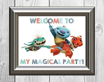 Wallykazam Welcome Sign-multiple sizes Instant Download-By Sweet Willow Designs