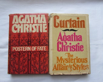 Postern of Fate and Curtain Agatha Christie Hardcover Books