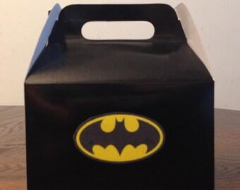 BatMan Birthday Favor Boxes