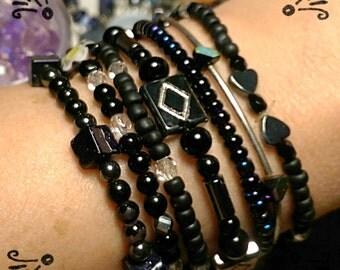 Gypsy look bracelet set.