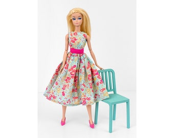 Floral dress for Barbie and Poppy Parker