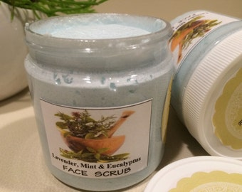 Spearmint-Lavender-Eucalyptus   SPA Facial Sugar Scrub ( oily skin, acne)