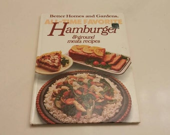 On Sale Better Homes and Gardens All Time Favorites Hamburger Cookbook 1980