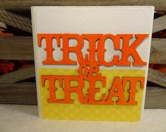 Trick or Treat Wooden Block