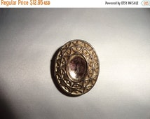 50% OFF Vintage Metal picture locket necklace pendant/brooch empty middle for picture or jewel