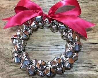Christmas Wreath, Jingle Bell Wreath, Door Knob Decoration, Door Knob Wreath, Christmas Decoration, Holiday Wreath, Jingle Bells, Wreath