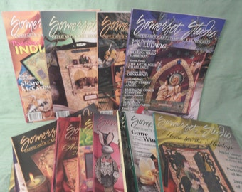13 back issues of SOMERSET STUDIO magazines / 2000-2003 / magazine back issue destash