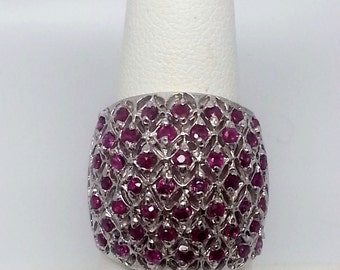 Ruby Ring .80ctw Sterling Silver Size 7