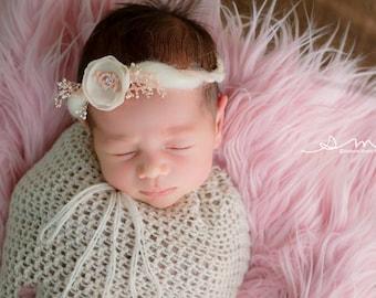 Newborn Crochet Swaddle Sack