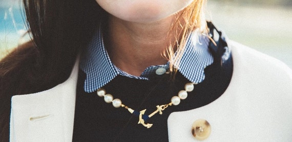 Swarovski Pearl Awareness Ribbon Necklace