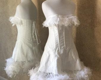 Saloon girl wedding dresses