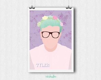 TYLER OAKLEY Downloadable Poster | Youtubers series
