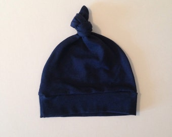 Navy Knotted Hat