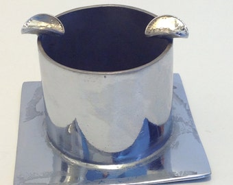Chrome Plated Trench Art Style Ashtray