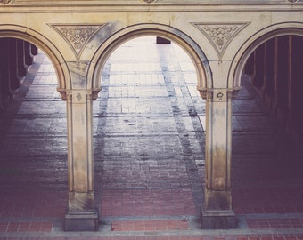 New York City photography, NYC art, urban architecture, central park photography, bethesda terrace, central park, urban decor, nyc decor