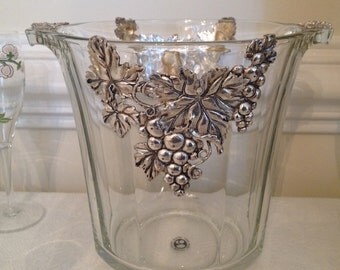 Arthur Court crystal Champagne Cooler/Ice Bucket
