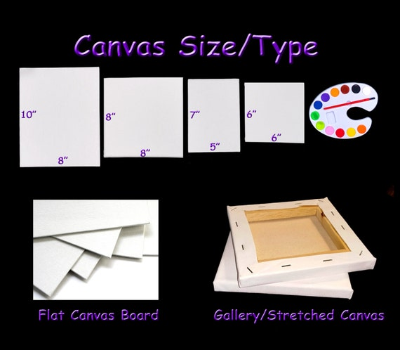 Diy paint party activity or diy art party kit blank canvas for Diy blank canvas