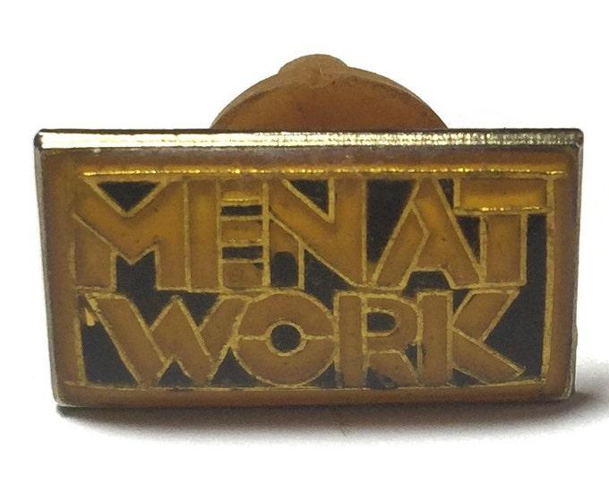 Vintage 80s Men At Work Pinback Button Pin Badge