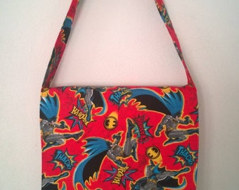 Batman Inspired Toddler Size Messenger, Cross Body Bag
