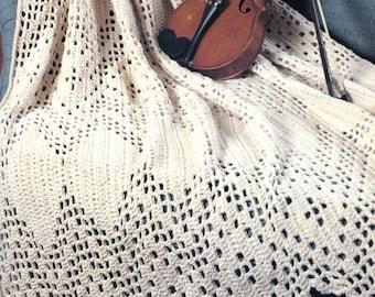 Lacy Victorian Throw - Crochet Blanket Pattern