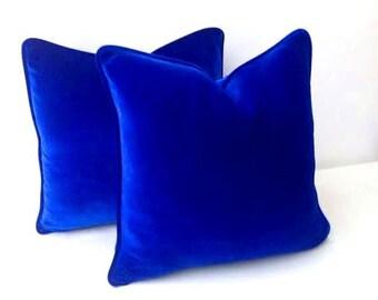 Royal blue pillow Etsy