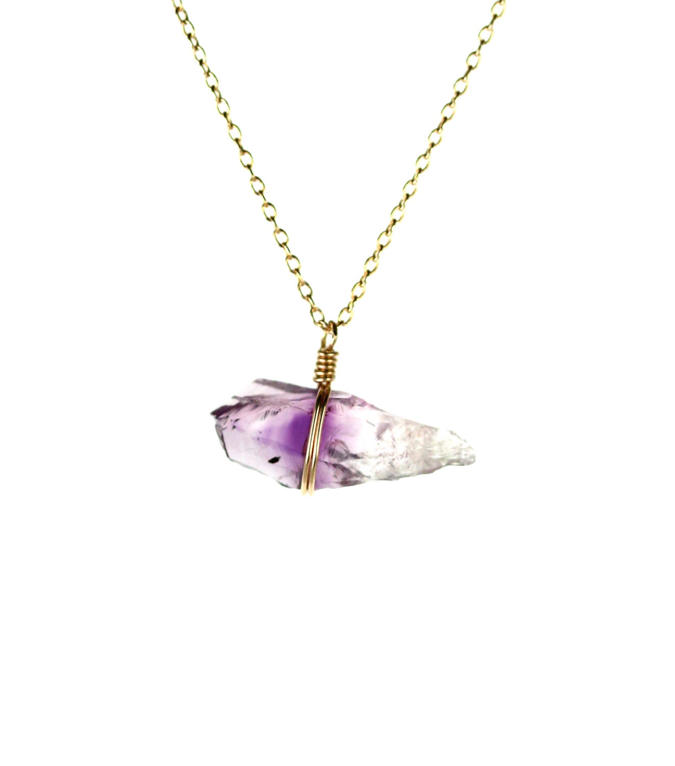 amethyst crystal necklace - photo #38