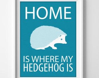 Hedgehog Wall Art, Hedgehog gift, Hedgehog Decor, Personalized Hedgehog, Hedgehog Pet, Hedgehog Print, Hedgehog Christmas, Hedgehog Birthday