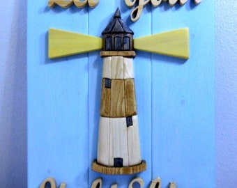 Intarsia Lighthouse Wall Hanging