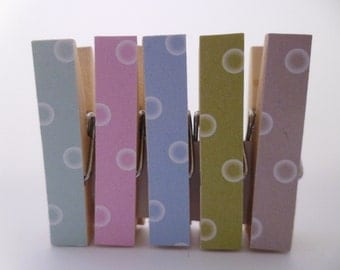 Mini Pegs Clothespin Magnets Magnetic Dot Pastel Variety