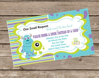 Monsters Inc Bring A Book Card