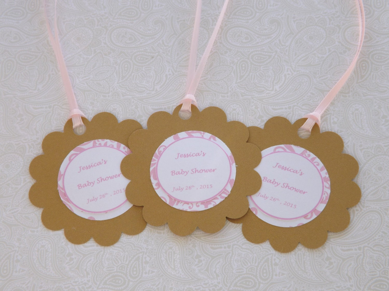 baby shower favor tags personalized favor tags wedding