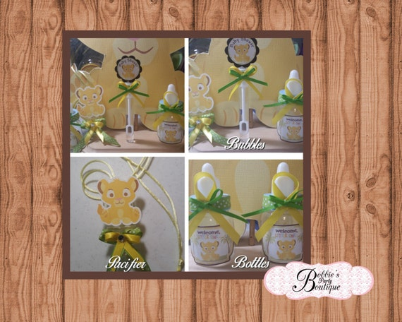 lion king baby shower favors lion king pacifier baby shower favors