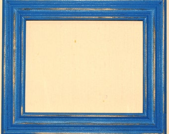 """F003 2"""" OKC Blue Distressed Picture Frame"""