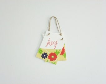 Wall Hanging Banners - Vintage Flowers - Hey