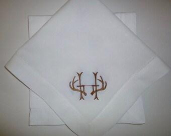 4 Made to Order Antler Dinner Napkins100% Fine Linen