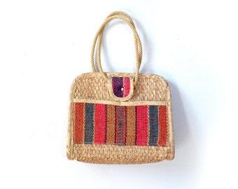 Straw Purse, Straw Bag, Straw Tote Bag, Woven Purse, Woven Bag, Raffia Bag, Raffia Purse, Rattan Bag, Vintage Bag, Boho Bag