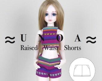 UNOA/ Minifee/ Narae/ Slim MSDs Raised Waist shorts pattern