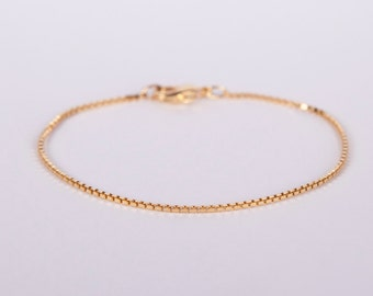 Pretty Fine Bracelet Golden Chain Plated  Gold Plated Chain Venetian Bracelet