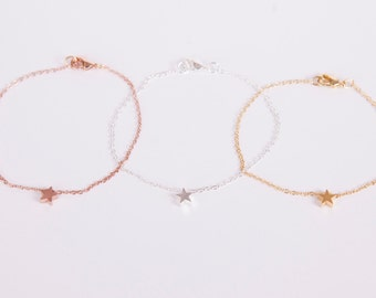 Bracelet Gold Or Silver Or Rosegolden Bracelet Plated Star Bracelet Chain Plated Starlet  Choose your Colour